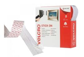VELCRO? Brand VELCRO Brand (20mm x 10m) Stick On Hook and Loop Tape (White)