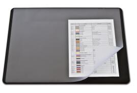 DURABLE Desk Mat with Transparent Overlay (Black)