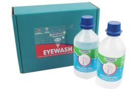 Wallace Cameron Eyewash Sterile Water Bottles for Eye Care Dispensers 500ml (Pack of 2)