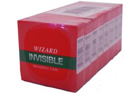 Robinson Young Wizard Invisible Mending Tape 24 mm x 66 m (Pack of 6)