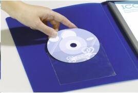 DURABLE POCKETFIX CD/DVD Pocket with Closing Flap (Transparent) - Pack of 100