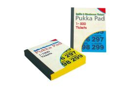 Pukka Pads Raffle Tickets Numbered 1-500  Pack of 12