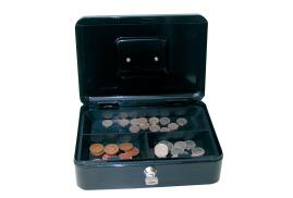 Cathedral Value 6 Inch Cash Box (Black)