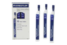 Staedtler Mars Micro Carbon 250 Mechanical Pencil Leads 0.7mm HB Grade Black (Pack of 12)