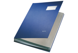Leitz Signature Book (Blue) 20 Compartments of Durable Blotting Card