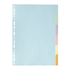 Exacompta 6 Part Coloured Recycled Plain Dividers Image