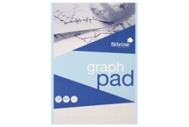 Silvine (A4) Refill Graph Pad 50 Leaf 2/10/20mm (Pack of 12)