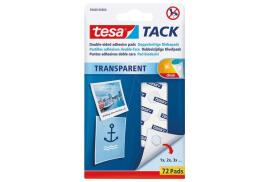 Tesa Transparent Tack Double Sided Adhesive Pads (Pack of 72 Pads)