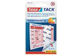 Tesa Transparent Tack Double Sided Adhesive Pads (Pack of 36 Pads)