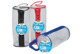 Tiger Stationery Tiger stationery Tuff Bag Cylinder Pencil Case (Assorted Colours) Pack of 12