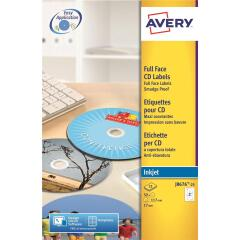 Avery Inkjet Full Face Quick Dry CD 117mm Labels (White) Image