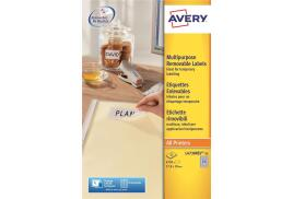Avery L4730REV-25 Removable Mini Labels (17.8 x 10mm) White (Pack of 6750 Labels)