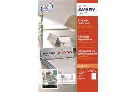 Avery L4796 (210x60mm) Printable Business Tent Cards (Pack of 20 Cards)