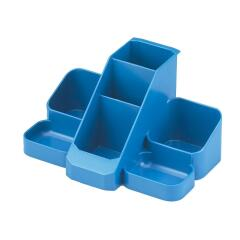 Avery Standard Range Desk Tidy (Blue) with 7 Compartments Image