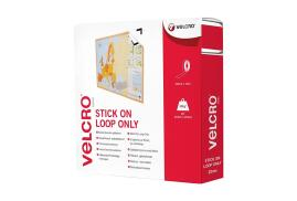 VELCRO? Brand VELCRO Brand (20mm x 10m) Stick On Tape (Loop Only) White
