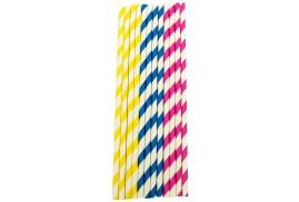 Caterpack Enviro Striped Paper Straws (Pack of 150)