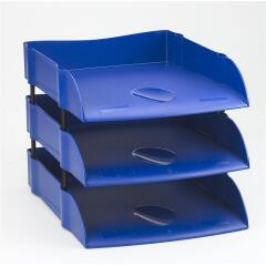 Avery Desktop Range DR100 EcoFriendly Self Stacking Letter Tray (Blue) Image