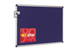 Bi-Office (2400mm x 1200mm) Felt Notice Board (Blue)