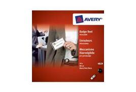 Avery 4829 Black Retractable Reel 80cm Long (Pack of 10 Retractable Reels)