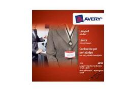 Avery 4830 Black Black Retractable Lanyard (60cm) with Reel (Pack of 10)