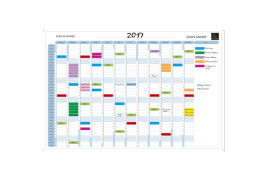 Exacompta (900mm x 590mm) Exaplanner Magnetic Year Wall Planner (White)