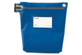 Versapak Secure Cash Bag (Medium) Tamper-Evident Zip Heavyweight Material (Blue)