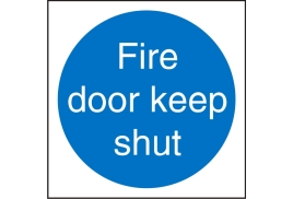 Stewart Superior M014SAV Self Adhesive Vinyl Sign (100x100) - Fire Door Keep Shut