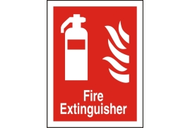 Stewart Superior FF071SAV Self Adhesive Vinyl Sign (150x200) - Fire Extinguisher