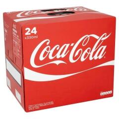 Coca-Cola Coca Cola (330ml) Coke Soft Drink Can (Pack of 24) Image