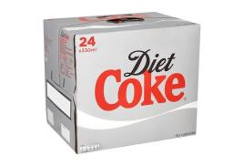 Coca-Cola Coca Cola (300ml) Diet Coke Soft Drink Can (Pack of 24)