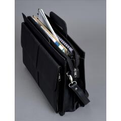 Alassio Multi-Section Zipped Document Case (Black) Image