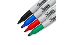 Sharpie Permanent Markers Fine Tip Assorted Colours (4 pack)