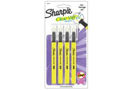 Sharpie Clear View Highlighter Stick - Yellow (4 Pack)