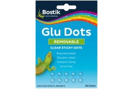 Bostik Removable Glu Dots (Pack of 64)