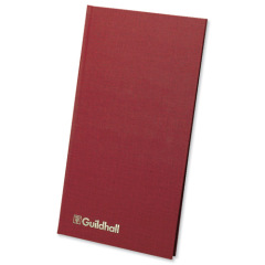 Guildhall Ruled Petty Cash Book (152mm x 298mm) with 1 Debit/7 Credit Columns and 80 Pages (Maroon) Image