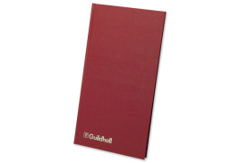 Guildhall Ruled Petty Cash Book (152mm x 298mm) with 1 Debit/7 Credit Columns and 80 Pages (Maroon)