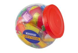 Kevron ID5 Clicktags Standard Key Tags Plastic Assorted Tub (Pack of 150)