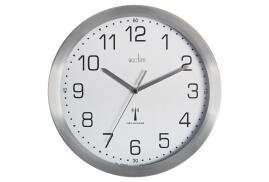 Acctim Mason (25cm) Radio Controlled Wall Clock (Brushed Aluminium)