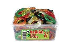 Haribo Giant Suckers Tub (Single)