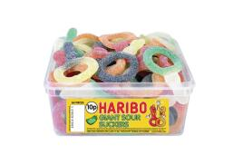 Haribo Giant Sour Suckers Tub (Single)
