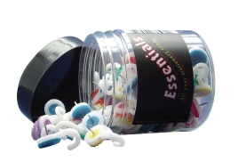 Whitecroft Essentials Hook Push Pins (Assorted) Tub of 100