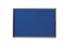 Nobo Internal Fabric Glazed Case (Document Size: 8 x A4) with Lockable Security Sliding Door (Blue)