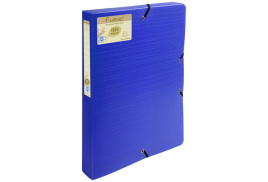 Forever Exabox (A4) Recycled 40mm Spine 0.7mm Thickness Polypropylene Filing Box (Blue)