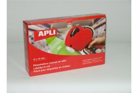 Apli Handheld Price Label Gun (Red) 1 Line 8 Characters