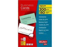 DECadry TopLine Straight Corner Business Cards (White) Pack of 150 Cards