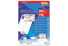 DECadry MicroLine 285g/m2 Business Cards (Bright White) 1 x Pack of 150 Cards