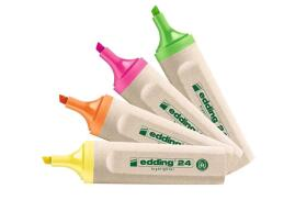 Edding EcoLine 24 Highlighter Chisel Nib 2-5mm Line (Assorted Colour) - Pack of 4