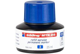 Edding MTK 25 (25ml) Refill Ink (Blue) for Permanent Markers