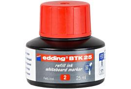 Edding BTK 25 (25ml) Refill Ink (Red) for Whiteboard Markers