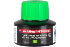 Edding HTK 25 (25ml) Water-Based Refill Ink (Light Green) for Highlighter Pens